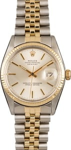 Pre-Owned Rolex Silver Dial Datejust 16013