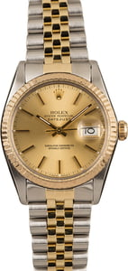Pre-Owned Rolex Datejust 16013 Champagne Dial Watch