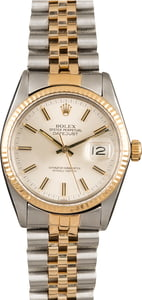 Used Rolex Two Tone Datejust 16013 Jubilee Bracelet