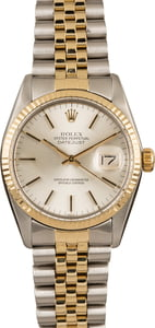 Pre Owned Rolex Two-Tone Datejust 16013 Silver