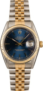 Men's Rolex Datejust 16013 Blue Dial