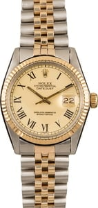 Pre-Owned Mens Rolex Datejust 16013 Champagne Buckley Dial