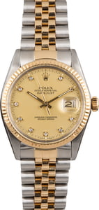 Pre Owned Rolex Datejust 16013 Diamond Dial