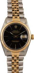 Pre Owned Rolex Datejust 16013 Black Index Dial