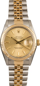 Pre-Owned Rolex Two Tone 16013 Champagne Dial Watch