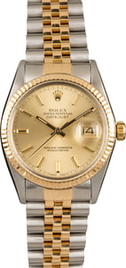 Pre-Owned Rolex Datejust 16013 Champagne Index Watch