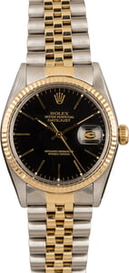Pre-Owned Rolex Datejust 16013 Black Index Dial