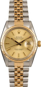 Pre-Owned Rolex Datejust 16013 Two-Tone Model