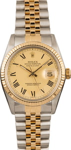 Pre-Owned Rolex Datejust 16013 Champagne Roman Dial
