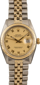 Pre-Owned Rolex Datejust 16013 Roman Markers