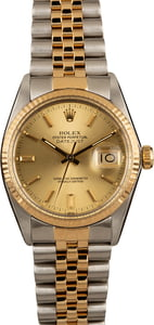 Used Rolex 36MM Datejust 16013 Champagne Dial
