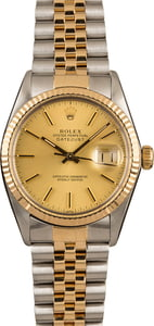 Pre-Owned Rolex 36MM Datejust 16013 Champagne Dial