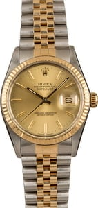 Pre-Owned Rolex 16013 Datejust Champagne Dial
