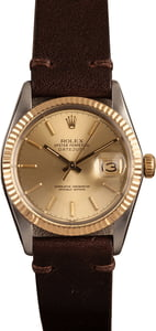Pre-Owned 36MM Rolex Datejust 16013 Leather Bracelet
