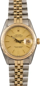 Pre-Owned Rolex 36MM Datejust 16013 Fluted Bezel