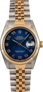 Pre-Owned Rolex Datejust 16013 Blue Jubilee Arabic Dial