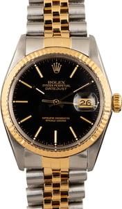Pre-Owned Rolex Datejust 16013 Black Dial Watch