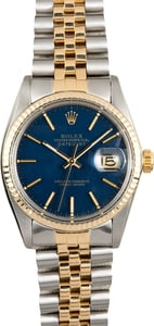 Rolex Datejust 16013 Blue Certified Pre-Owned