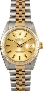 Rolex Datejust 16013 Certified Pre-Owned Champagne