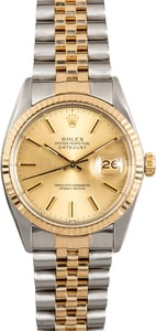 Rolex Datejust 16013 Champagne 100% Authentic