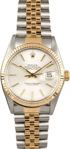 Rolex Datejust 16013 Silver Certified Pre-Owned