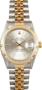 Rolex Datejust 16013 Two Tone Silver Dial