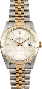Rolex Datejust 16013 Silver Index Dial