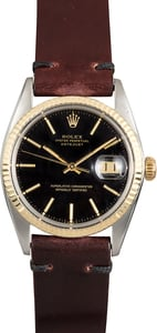 Rolex Datejust Black 16013 Leather Strap