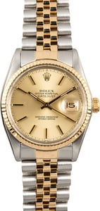 Rolex Datejust 16013 Two-Tone Jubilee Band