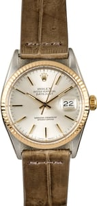 Rolex Two-Tone Datejust 16013 Leather