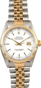 Rolex Datejust 16013 White Dial 100% Authentic