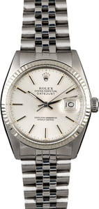 Rolex Datejust 16014 Silver Index Dial