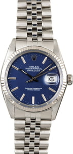 Used Rolex Datejust 16014 Blue Dial