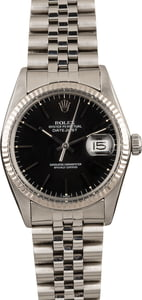 Rolex Datejust 16014 Black Index Dial Jubilee Band 36MM