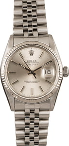 Pre Owned Rolex Datejust 16014 Silver Index Dial