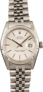 Used Rolex Datejust 16014 Silver Index Dial Jubilee
