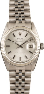 Pre-Owned Rolex Datejust 16014 Silver Dial
