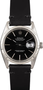 Pre Owned Rolex Datejust 16014 Black Dial