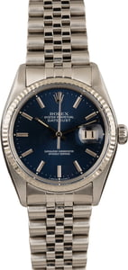 Pre-Owned Rolex Datejust 16014 Blue Dial