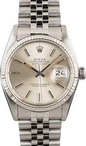 Rolex Datejust 16014 White Gold Bezel