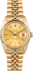 PreOwned Rolex Datejust 16018 Yellow Gold Jubilee