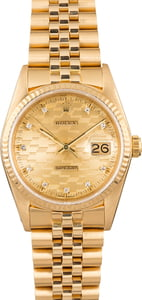 Rolex Datejust 16018 Chevy Diamond Dial