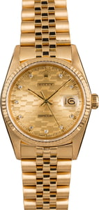 Pre-Owned Rolex Datejust 16018 Chevy Diamond Dial