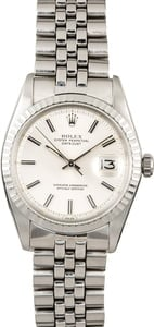 Vintage Rolex Datejust 1603 Engine Turned Bezel