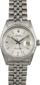 Rolex Datejust 1603 Stainless Steel Engine Turned Bezel