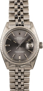 Pre Owned Rolex Datejust 1603 Slate 'Pie Pan' Dial