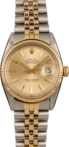Pre-Owned Rolex Datejust 1603 Champagne 'Pie Pan' Dial