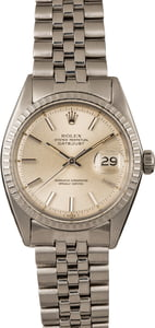 Pre-Owned Rolex Datejust 1603 Silver Pie Pan Dial