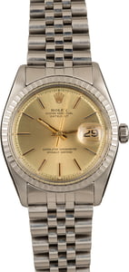 Pre-Owned Rolex Datejust 1603 Champagne Dial
