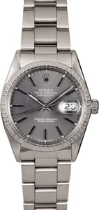 Men's Rolex Datejust 16030 Slate Dial
